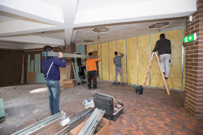 Vor etwa drei Wochen haben die Umbauarbeiten im Centre Noppeney angefangen.