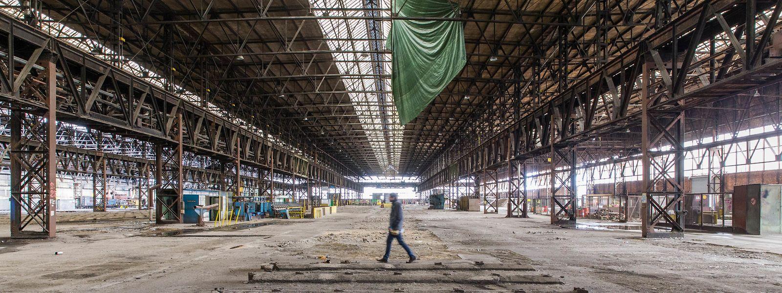 Das ehemalige Walzwerk imponiert unter anderem durch seine Dimensionen.