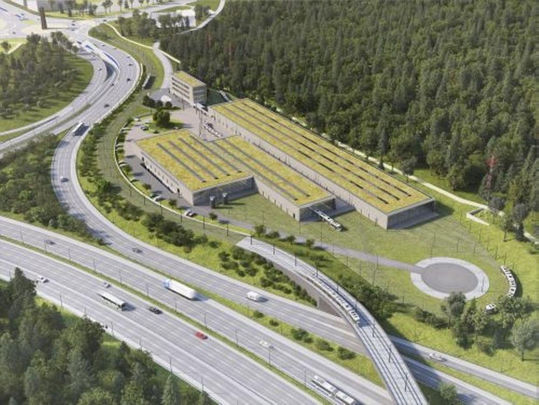 Vue aérienne des futurs bâtiments