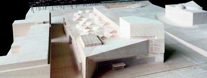 Modell des Neubaus