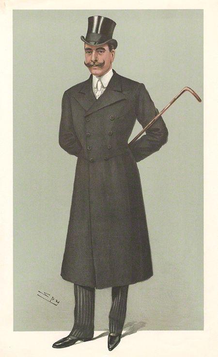 """Karikatur von Francis von Teck aus """"Vanity Fair"""", 1902"""