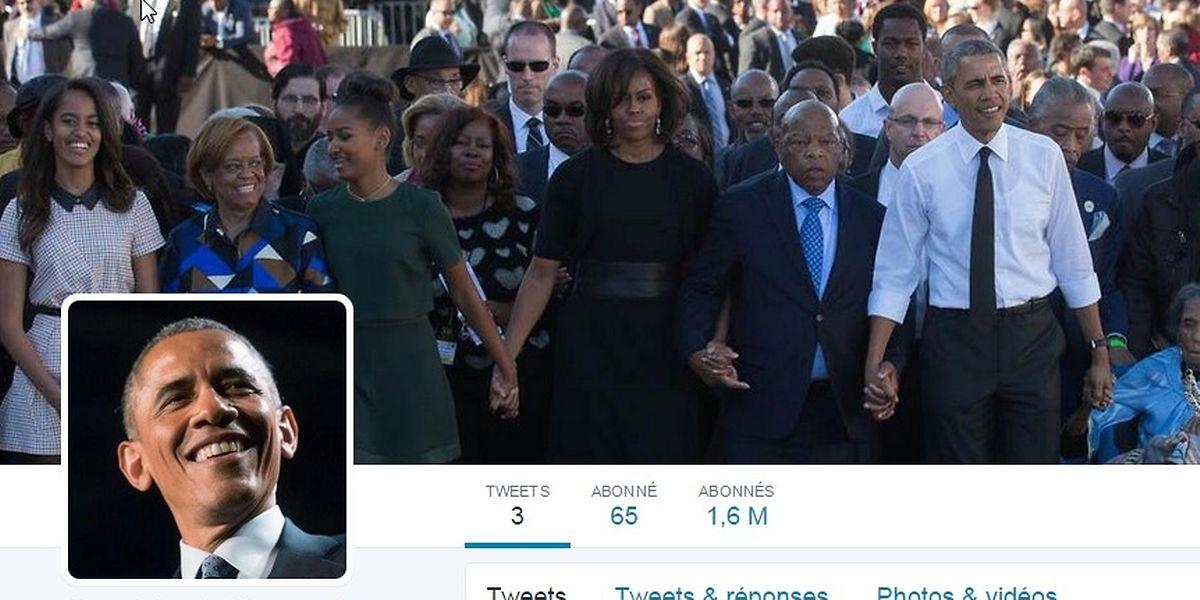 Le Président américain possède enfin un compte Twitter.