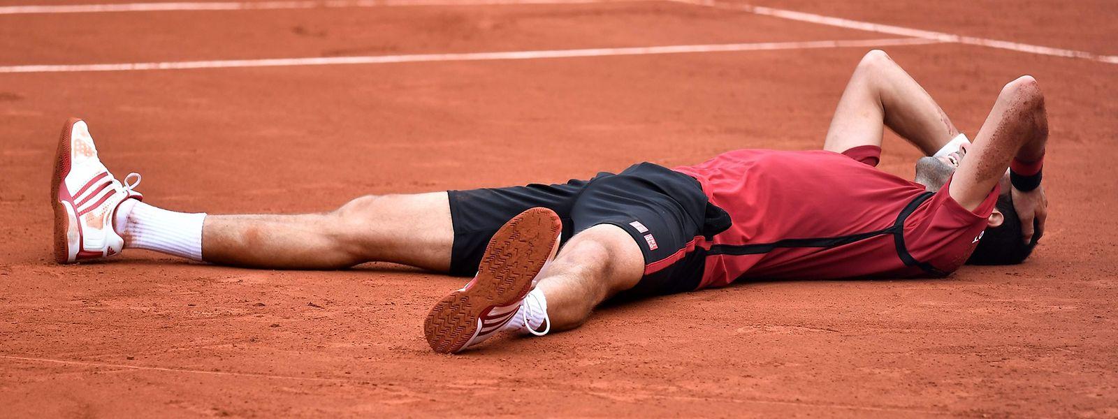Novak Djokovic konnte sein Glück kaum fassen.