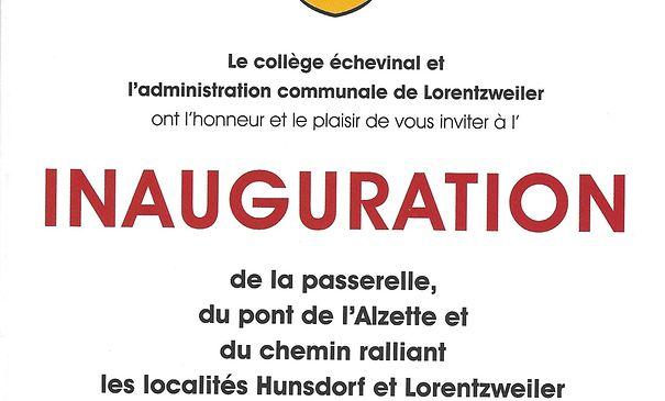 INAUGURATION de la passerelle et du pont de l'Alzette