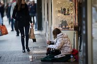 Obdachlose,Bettler .Foto:Gerry Huberty
