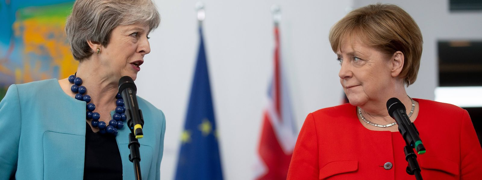 May wird sich unter anderem mit der deutschen Kanzlerin treffen.