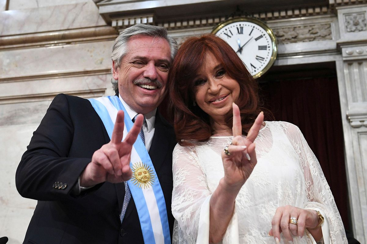 Alberto Fernández und Vizepräsidentin Cristina Fernández de Kirchner.