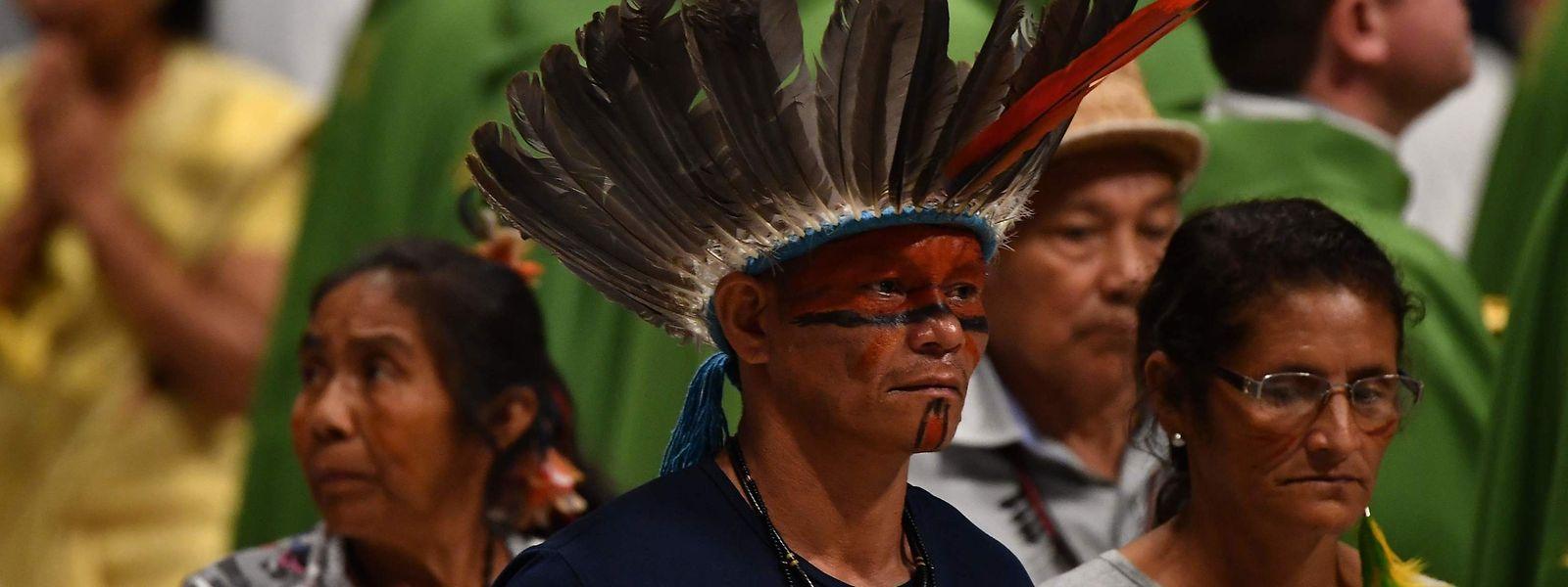 Ein Vertreter der Indigenen Bevölkerung Amazoniens.