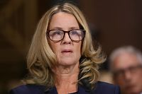 Christine Blasey Ford, the woman accusing Supreme Court nominee Brett Kavanaugh of sexually assaulting her at a party 36 years ago, preparers to testify before the US Senate Judiciary Committee on Capitol Hill in Washington, DC, September 27, 2018. (Photo by Win McNamee / POOL / Getty Images)