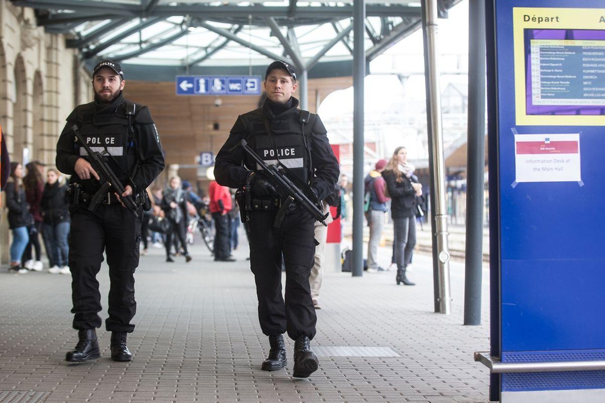 Auch die Luxemburger Polizei ist verstärkt im Einsatz.