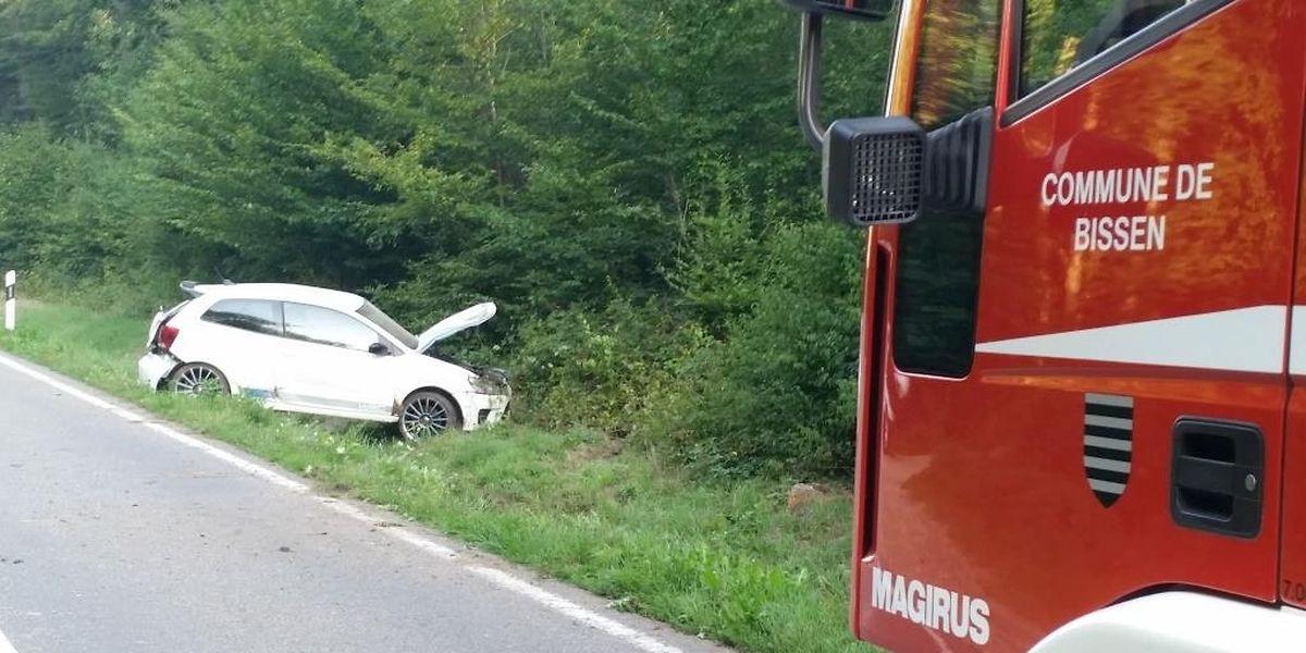 Zwischen Bissen und Vichten landete ein Autofahrer in den Straßengraben.