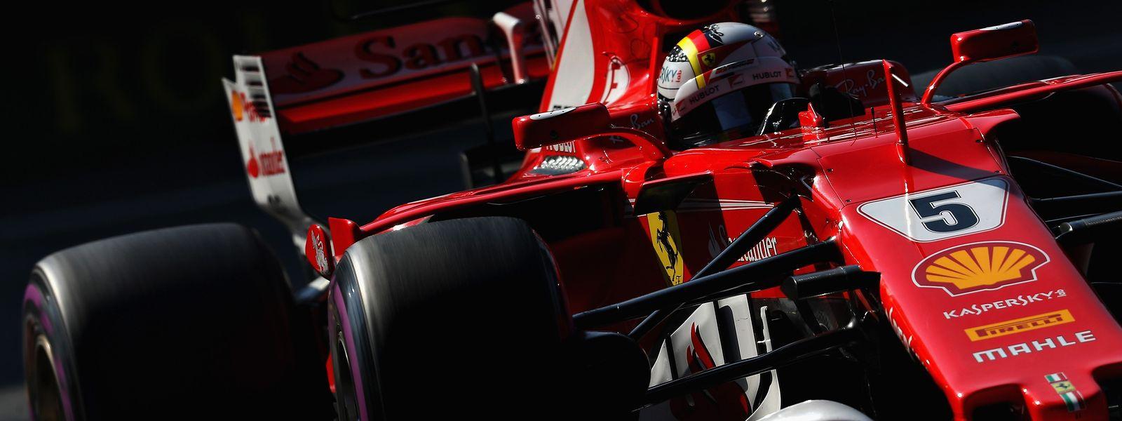 Ferrari-Pilot Sebastian Vettel möchte noch nicht aufgeben.