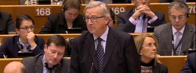 Juncker sprach am Mittwoch vor den EU-Parlamentariern.