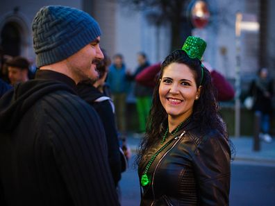 St. Patrick's Day was celebrated throughout all of Luxembourg city, like here at Vis-à-Vis.