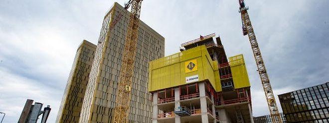 Kirchberg boomt: Hier entsteht der dritte Turm des europäischen Gerichtshofes.