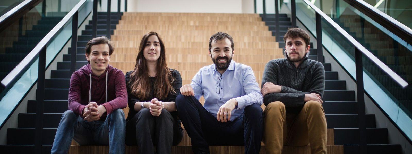 Brice Montagne, Maria Pena Lopez, Marc Cascant und Michael Bjorn Rasmussen – vier junge Europäer haben den Luxemburger Ableger der paneuropäischen Bewegung Diem25 gegründet.