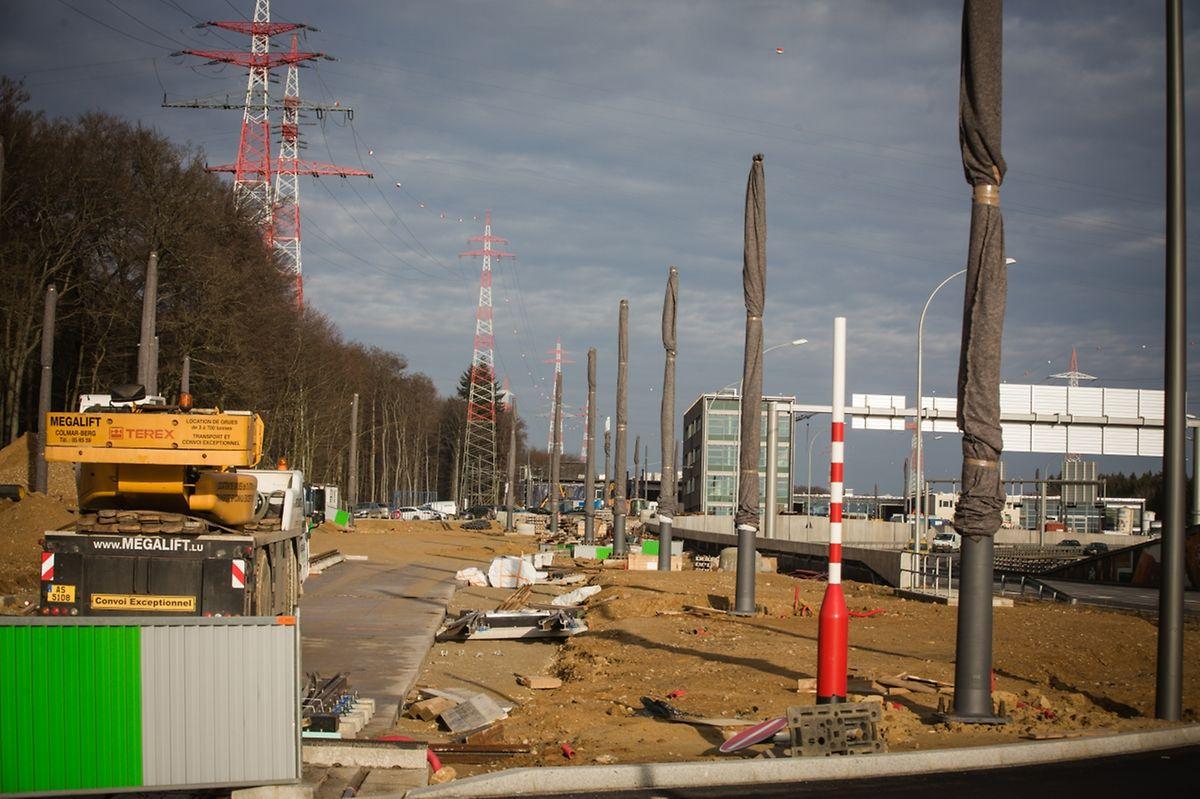 """Vorerst wird die Tram nur auf dem Gelände des neuen """"Tramsschapp"""" in Kirchberg verkehren."""