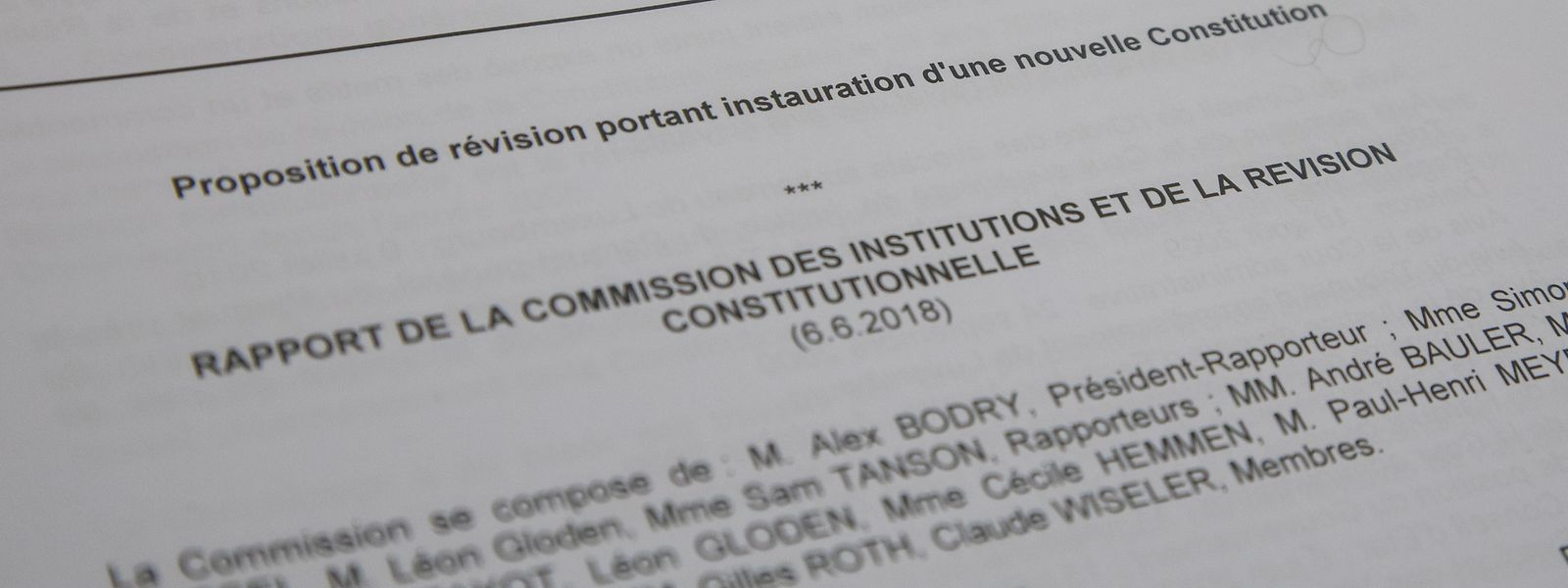 Die CSV erklärte am Donnerstag, warum sie von einem komplett neuen Grundgesetz absieht.