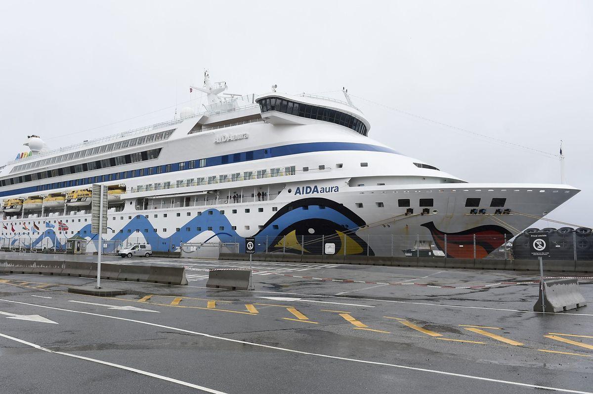 """Die """"Aida Aura"""" konnte ihre Fahrt nach einer Unterbrechung in Haugesund fortsetzen."""