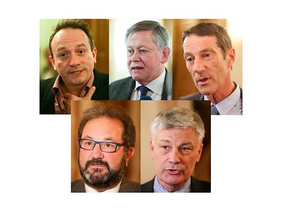 Marc Baum, Gast Gibéryen, Alex Bodry, Eugène Berger et Claude Wiseler ont réagi après la déclaration de Xavier Bettel.