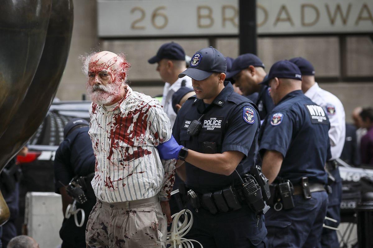 In New York kam die Polizei nicht um Festnahmen herum.