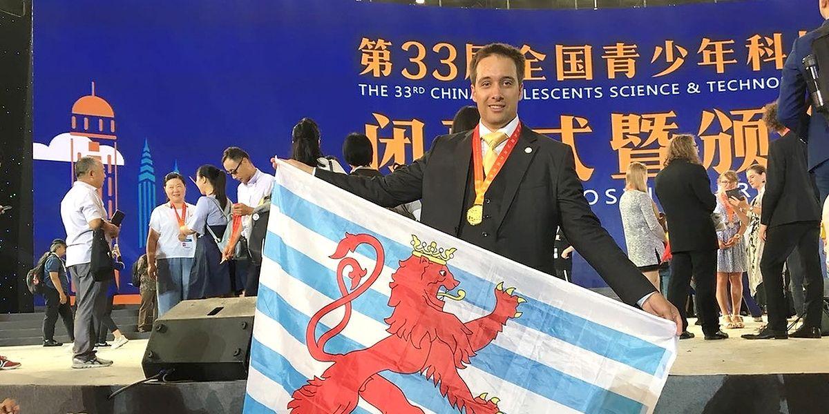 Max Arendt vertat Luxemburgs Farben in China und sein Roboterprojekt R.A.M. war der Jury eine Ehrung in Gold wert.