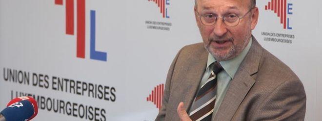 Jean-Jacques Rommes, Administrateur délégué des Unternehmerverbandes UEL, gibt der Regierung Kontra.