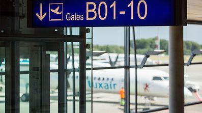 Pre-visit of Terminal B (Findel Airport), Foto Lex Kleren