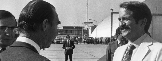 O Grão-Duque Jean com D. Duarte, durante a visita a Portugal, em 1984.