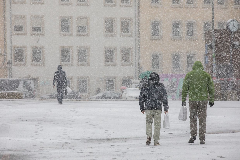 Schneefälle in Luxemburg.