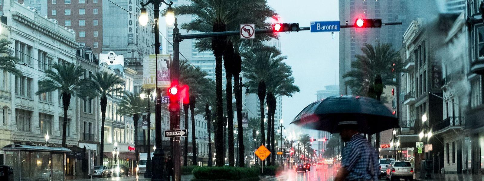 "In New Orleans regnet es - es ist Regen aus dem Tropensturm ""Harvey""."