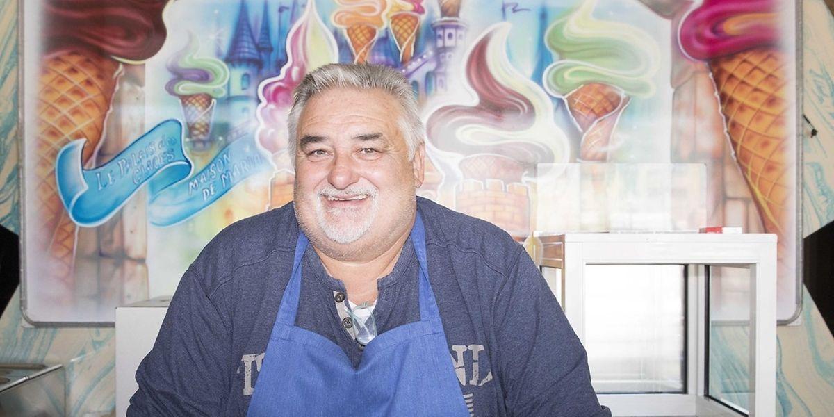 Ob Waffelteig oder Eismischung, jeden Morgen bereitet Guy De Maria alles frisch zu.
