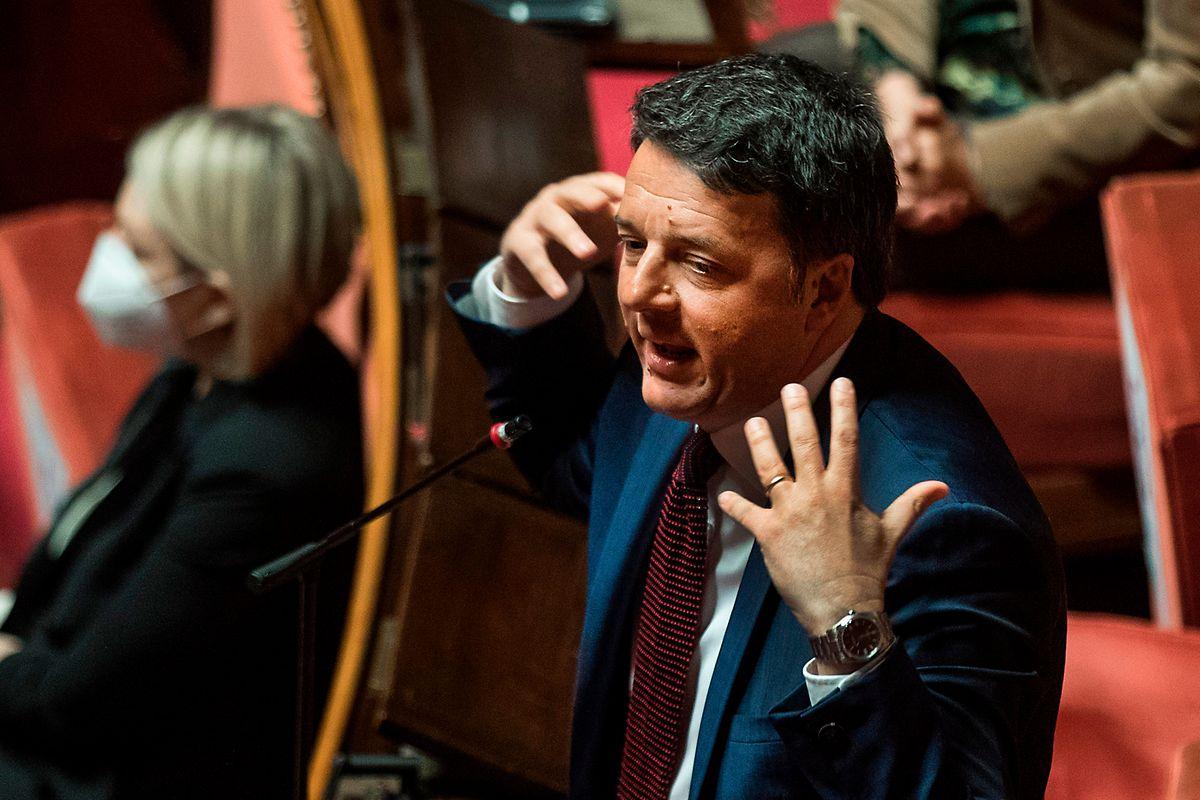 Matteo Renzi, ehemaliger Premierminister von Italien, während einer Parlamentssitzung zur Coronavirus-Krise.