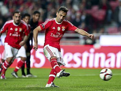 O avançado brasileiro do Benfica está em dúvida para o jogo contra o Dortmund