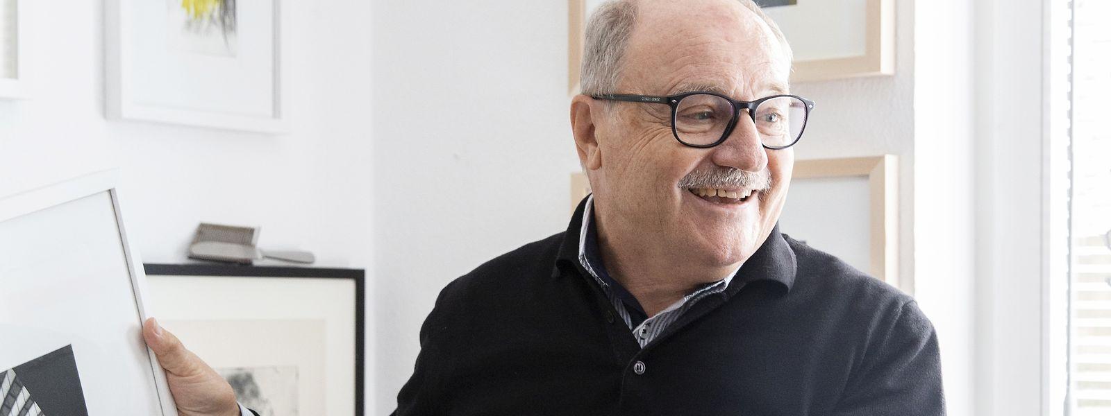 """Der ehemalige Bankier Franz Ruf hat bei Roger Bertemes die Kunst der Radierung gelernt. """"Es ist der Mann, der mich aufs Pferd gesetzt hat."""""""