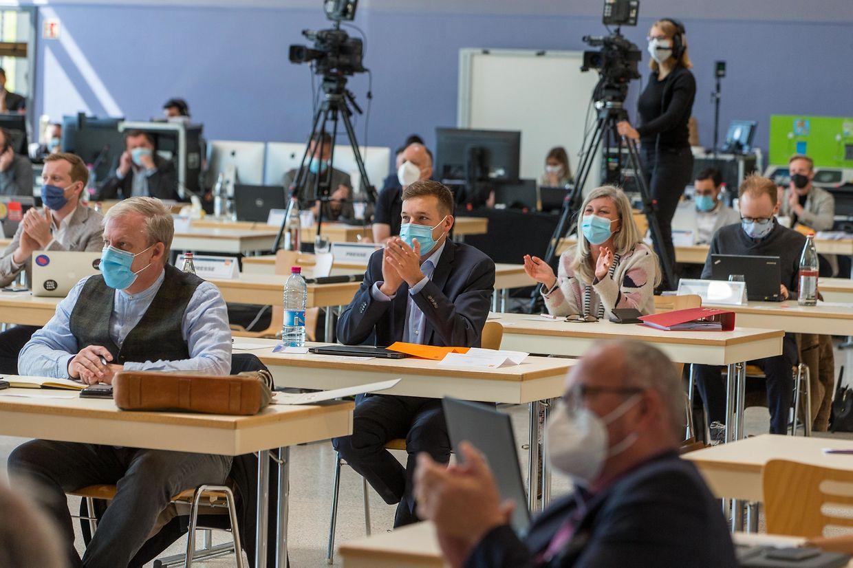 Der CSV-Kongress fand am Samstag im Kulturzentrum in Junglinster statt und wurde von den Delegierten und Parteimitgliedern digital verfolgt.