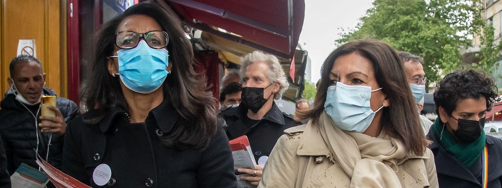 Die Pariser Bürgermeisterin Anne Hidalgo (r.) darf sich wenig Hoffnungen auf den Posten im Elyséepalast machen.