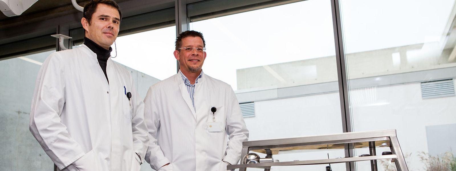 Dr. Ulrich Preiß und Dr. Andreas Schuff sind Luxemburgs erste Gerichtsmediziner. Schuff arbeitet sei April in Düdelingen, Preiß seit Oktober.