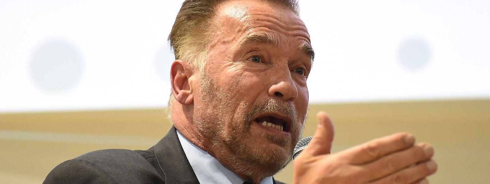 Arnold Schwarzenegger nahm in Kattowitz kein Blatt vor den Mund.