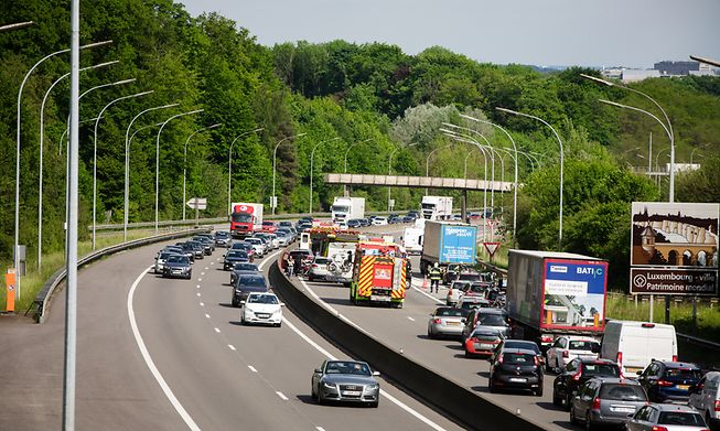 Motorway traffic in Luxembourg