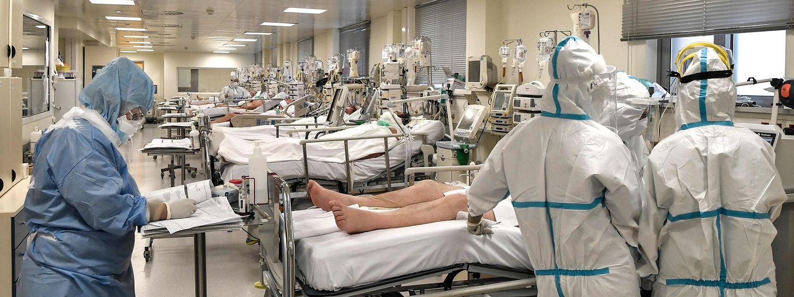 Actuellement, 234 patients atteints du covid sont pris en charge dans les hôpitaux du Luxembourg.