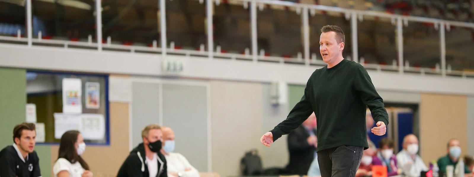 Trainer Ken Diederich und die Düdelinger müssen in der regulären Saison noch vier Begegnungen absolvieren.