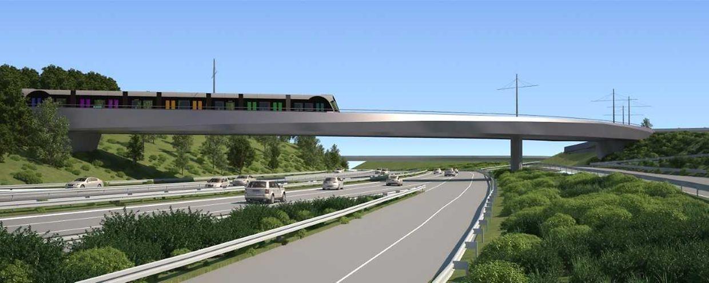 Im Zuge der Verlängerung der Tramstrecke von den Expohallen bis zum Flughafen bedarf es einer neuen Brücke über der Autobahn A1.