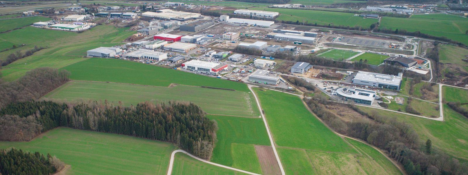 Les terrains où Google va s'implanter dans le secteur de Bissen.