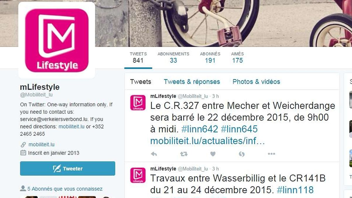 "La Mobilitéitzentral sur Twitter: ""One-way information only"""