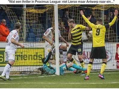Le Lierse a marqué, mais le Lierse a aussi encaissé au plus mauvais moment.