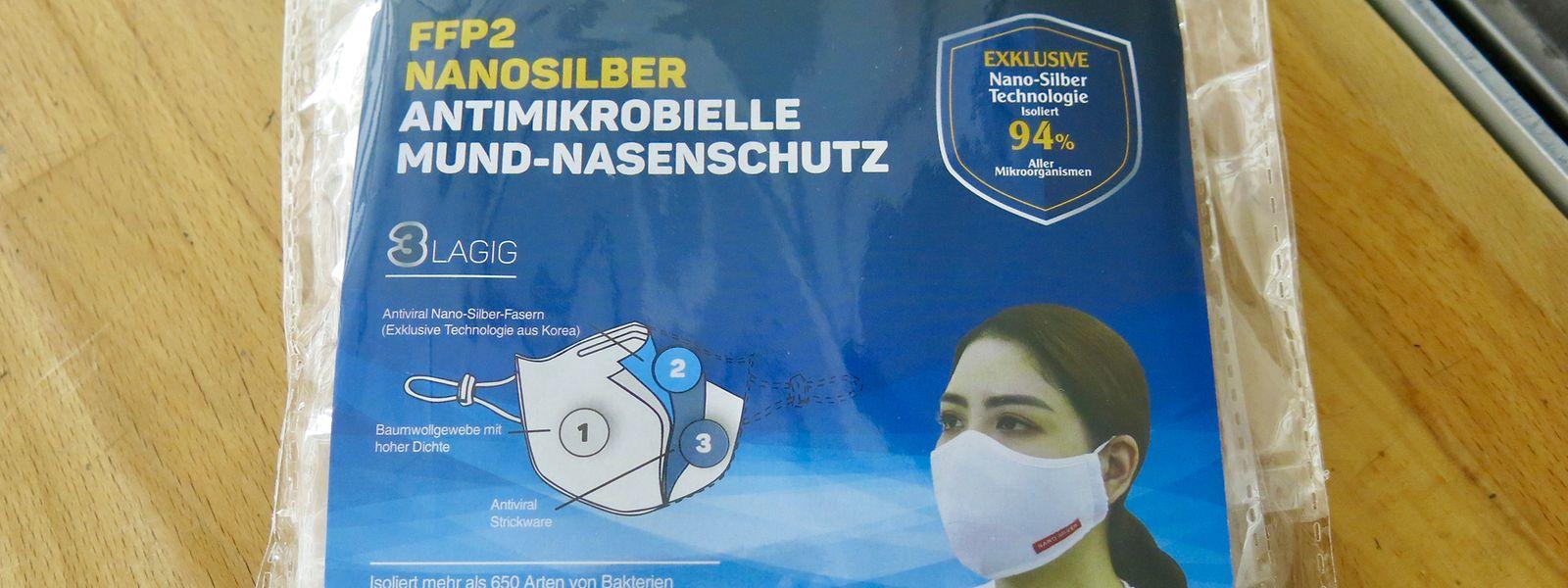 Les masques «FFP2 Nanosilber antimikrobielle Mund-Nasenschutz» sont retirés du marché et rappelés auprès du consommateur