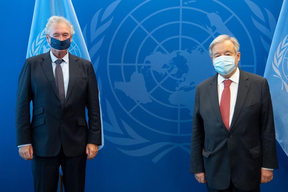 Außenminister Jean Asselborn (links) traf in New York mit UN-Generalsekretär António Guterres zusammen.