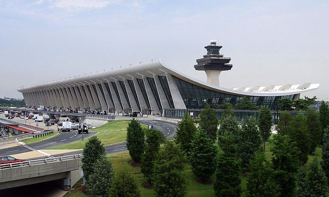 The main terminal at Dulles International Airport near Washington, D.C., is one of the major US airports that receives jet fuel via a pipeline now shut down for days after a cyber attack.