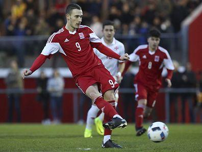 Edvin Muratovic (Luxemburg - 9) / Freundschaftsspiel / 23.03.2017 / Luxemburg - Malta U21 / Stade Albert Berchem / Foto: Yann Hellers